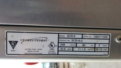 Henny Penny Commercial Rotisserie Oven Informations Specs