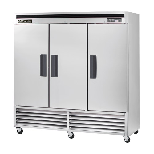 BLUE AIR 3 DOOR REACH IN REFRIGERATOR-BSR72