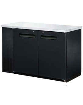 EFI 60″ 2 Door Solid Back Bar Refrigerator