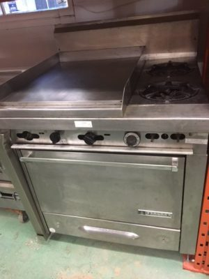 Garland Heavy Duty 2 Burner Range With Griddle Side 2