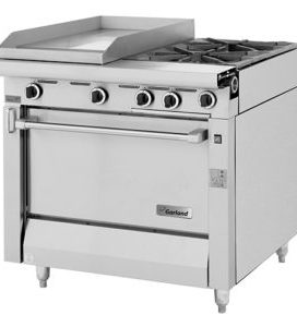 Garland Heavy Duty 2 Burner Range With Griddle Top