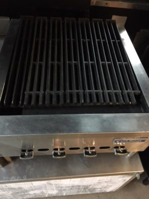 "Us Range Natural Gas Countertop 24"" Charbroiler Grill 2"