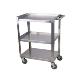 EFI 19″ x 31″ Stainless Steel 3 Shelf Utility Cart