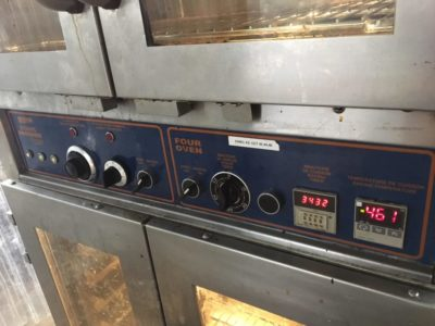 Doyon JAOP3 Double Deck Jet Air Electric Oven Proofer Combo Switches 2