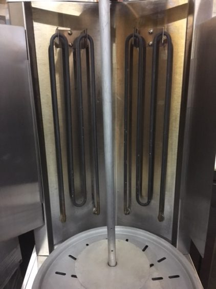 Star Max VBE30 Vertical Broiler Machine Info Front resistor
