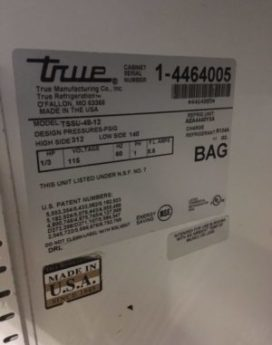 True refrigeration usa Fridge